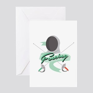 Fencing Greeting Cards