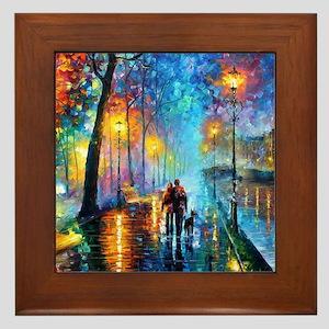 Evening Walk Framed Tile