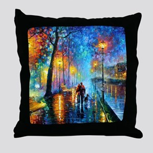 Evening Walk Throw Pillow