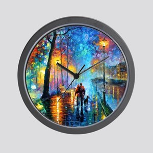 Evening Walk Wall Clock