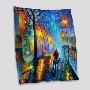 Evening Walk Burlap Throw Pillow