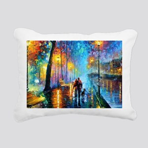 Evening Walk Rectangular Canvas Pillow