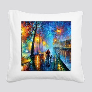Evening Walk Square Canvas Pillow