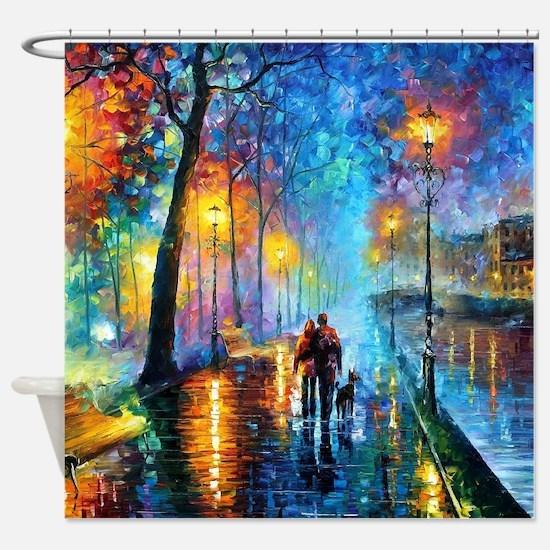 Evening Walk Shower Curtain