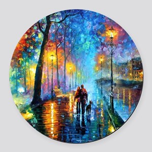 Evening Walk Round Car Magnet