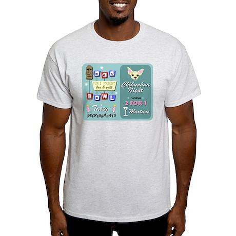 Chihuahua Tiki Bowling Light T-Shirt