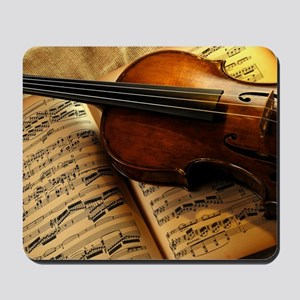 Violin On Music Sheet Mousepad