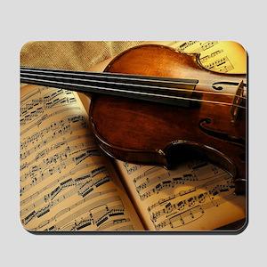 Violin On Music Sheet Mousepad