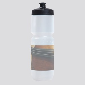 Violin On Music Sheet Sports Bottle