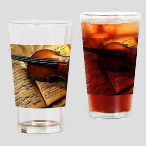 Violin On Music Sheet Drinking Glass