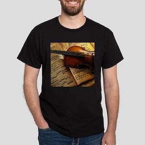 Violin On Music Sheet T-Shirt