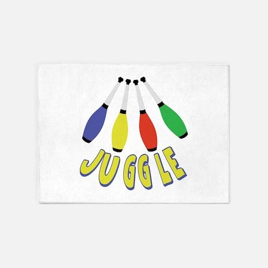 Juggle Clubs 5'x7'Area Rug