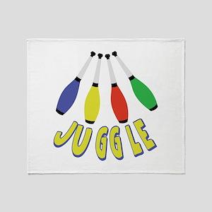 Juggle Clubs Throw Blanket