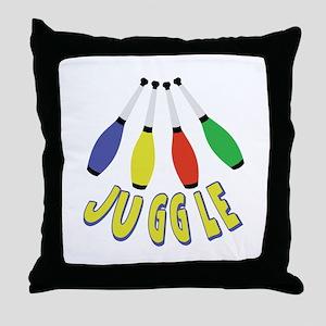 Juggle Clubs Throw Pillow