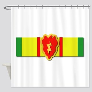 Ribbon - VN - VCM - 25th ID Shower Curtain