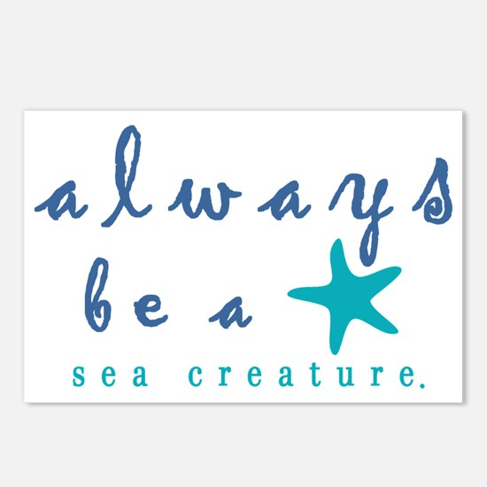 Always Be a Sea Creature Postcards (Package of 8)