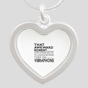 Vibraphone Awkward Moment De Silver Heart Necklace
