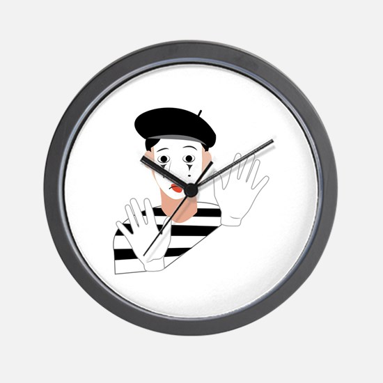 Mime Wall Clock