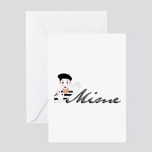 Mime Greeting Cards