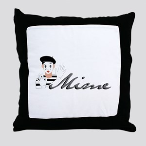 Mime Throw Pillow