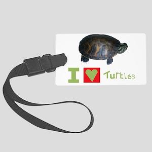 i love turtles Luggage Tag