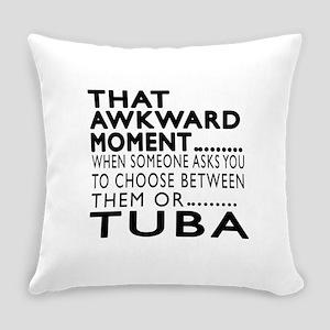 Tuba Awkward Moment Designs Everyday Pillow