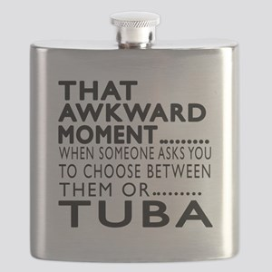 Tuba Awkward Moment Designs Flask