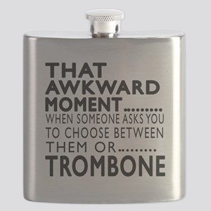 Trombone Awkward Moment Designs Flask