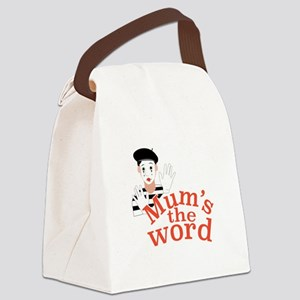 Mums the Word Canvas Lunch Bag