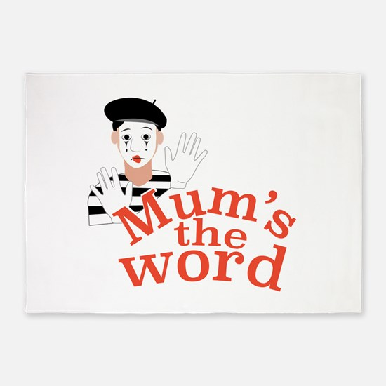 Mums the Word 5'x7'Area Rug