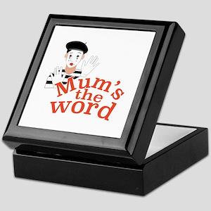 Mums the Word Keepsake Box