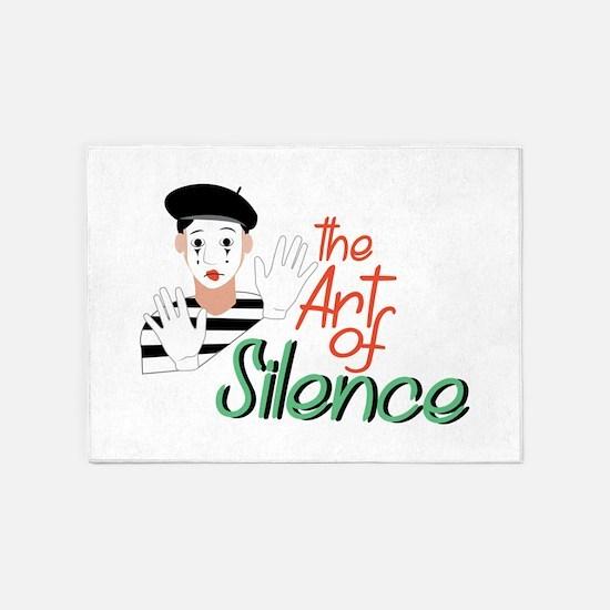 Art of Silence 5'x7'Area Rug
