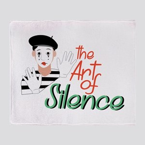 Art of Silence Throw Blanket