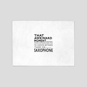 Saxophone Awkward Moment Designs 5'x7'Area Rug