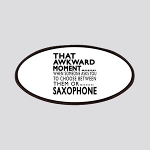 Saxophone Awkward Moment Designs Patch