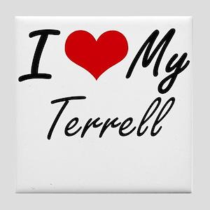 I Love My Terrell Tile Coaster