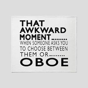 Oboe Awkward Moment Designs Throw Blanket