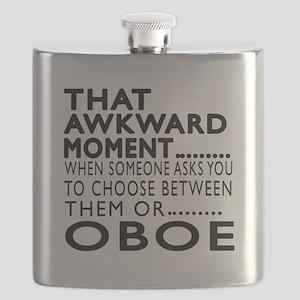Oboe Awkward Moment Designs Flask