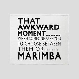 Marimba Awkward Moment Designs Throw Blanket