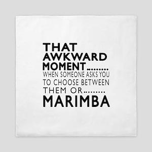 Marimba Awkward Moment Designs Queen Duvet