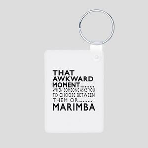 Marimba Awkward Moment Des Aluminum Photo Keychain