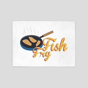 Fish Fry Food 5'x7'Area Rug