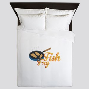 Fish Fry Food Queen Duvet