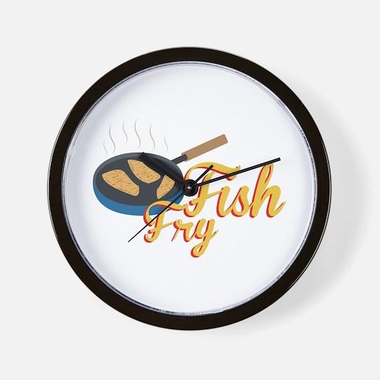 Fish Fry Food Wall Clock