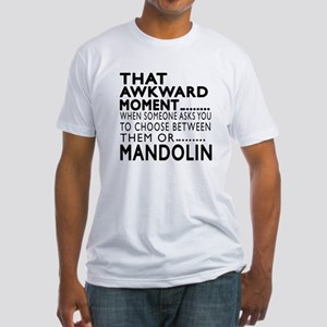 Mandolin Awkward Moment Designs Fitted T-Shirt