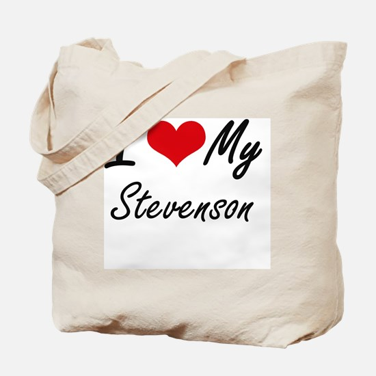 I Love My Stevenson Tote Bag