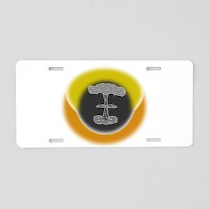 Atomic Explosion Aluminum License Plate