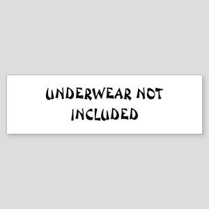 Underwear Bumper Sticker