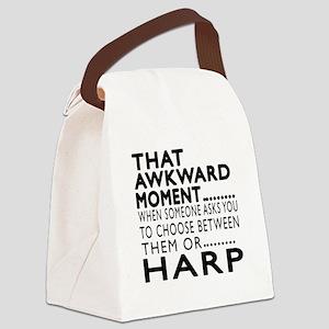 Harp Awkward Moment Designs Canvas Lunch Bag