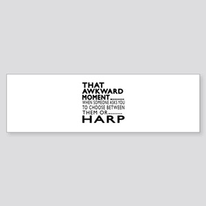 Harp Awkward Moment Designs Sticker (Bumper)